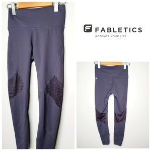 FABLETICS Grey Cropped Mid Rise Leggings